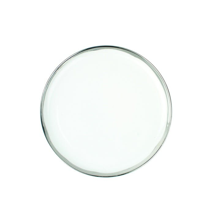 Dauville Dinner Plate, Platinum