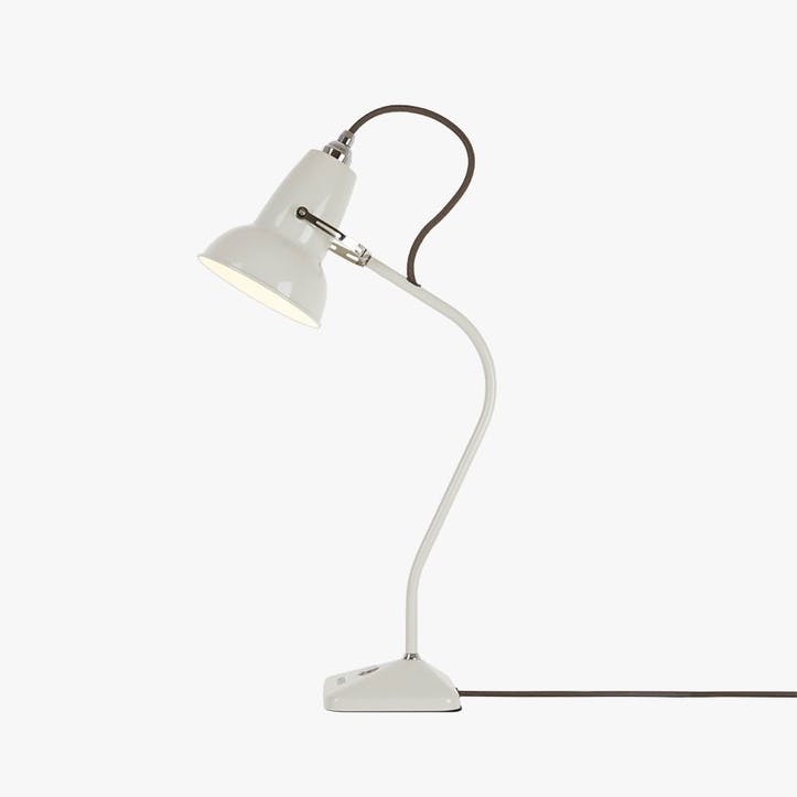 Mini Desk Lamp Linen White