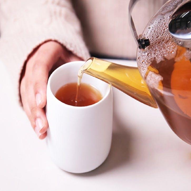 Nicola Tea Cup, Set of 2, White