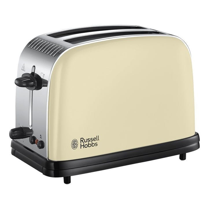 Colours Plus 2 Slice Toaster; Cream