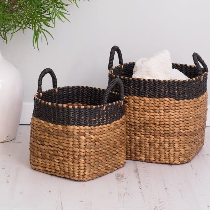 Natural Wicker Baskets, Set of 2