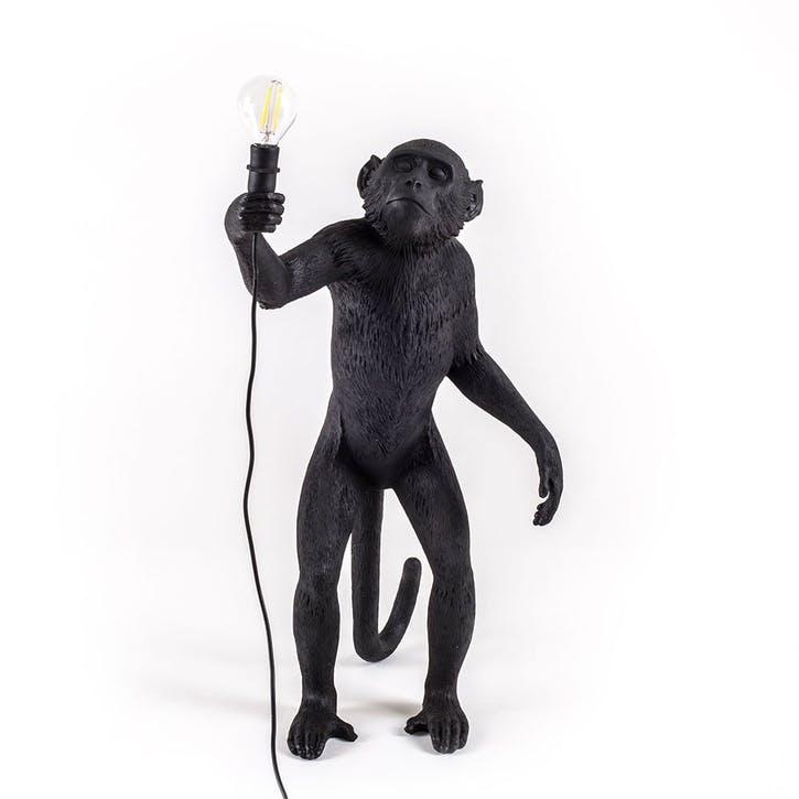 Seletti Monkey Lamp - Standing Black