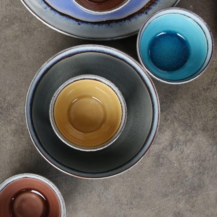 Dakara Ceramic Bowl; Grey