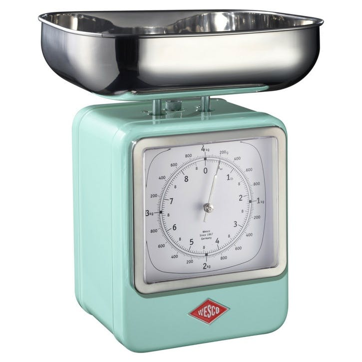 Retro Scale with Clock; Mint