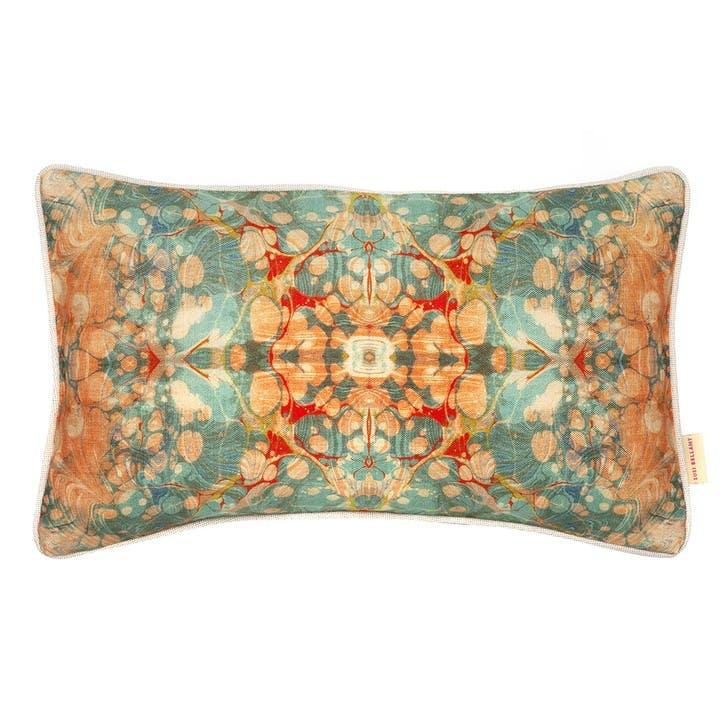 Fantasy Tapestry Kaleidoscope, Rectangular Linen Cushion, H53 x W32cm