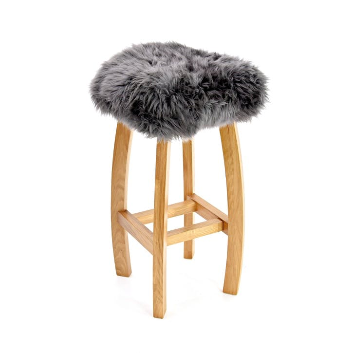 Baa Bar Stool, 72cm x 33cm x 33cm, Slate Grey