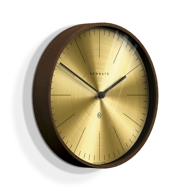Mr Clarke Wall Clock, Dia. 40cm, Brass