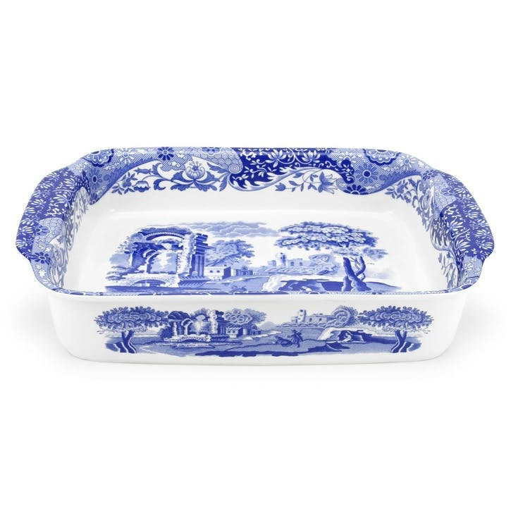 Blue Italian Rectangular Baking Dish - Large