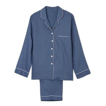 Blueberry Linen Pyjama Set, Large
