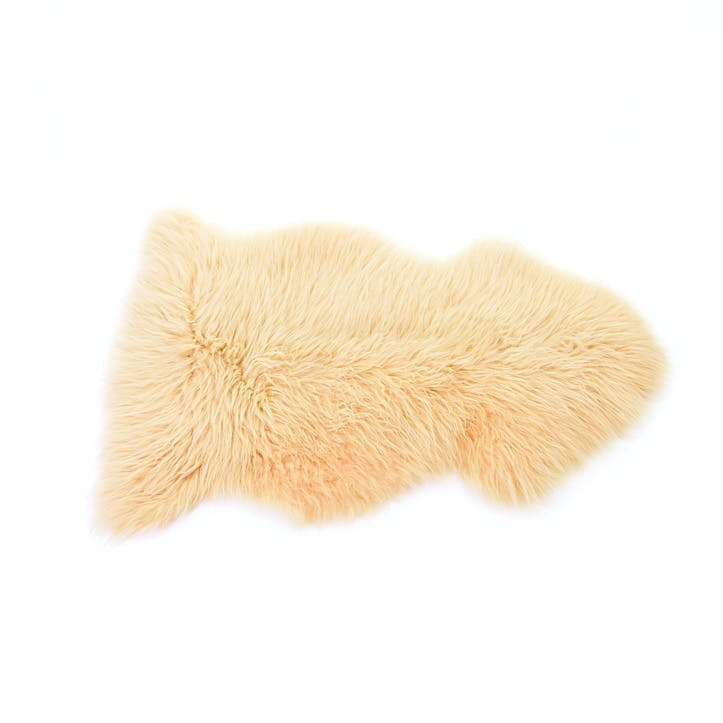 Baa Stool Sheepskin Rug, Buttermilk