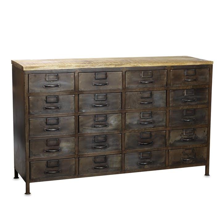 Mansu Iron & Mango Wood Cabinet - Large