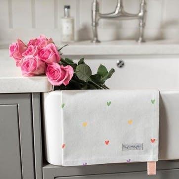 Hearts, Tea Towel