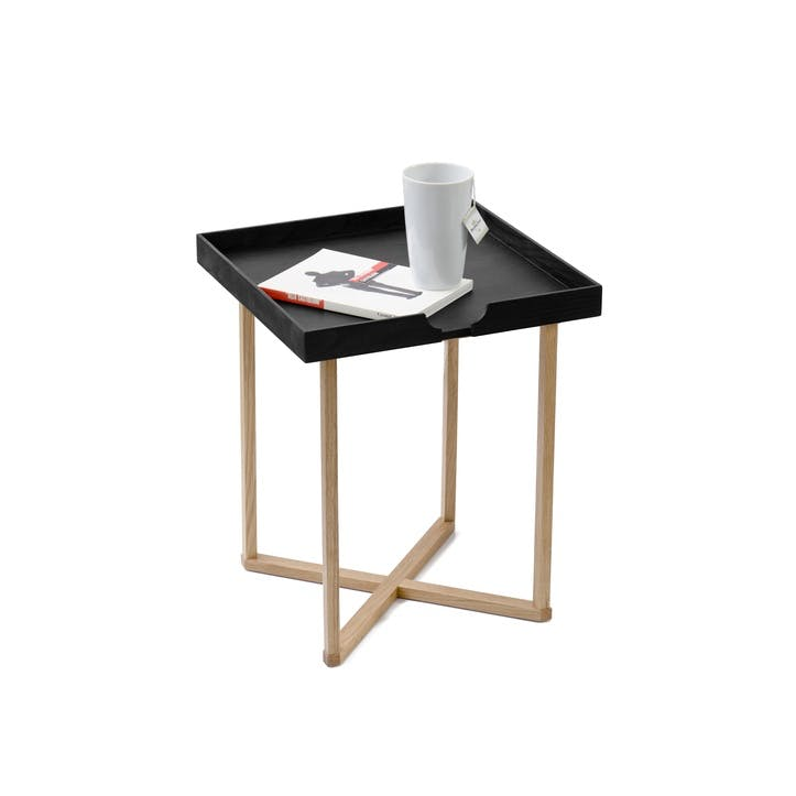 Damien Square Side Table, Black