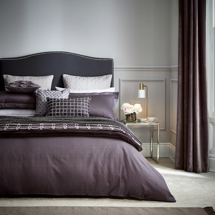 Rivage Double Duvet Cover, Damson