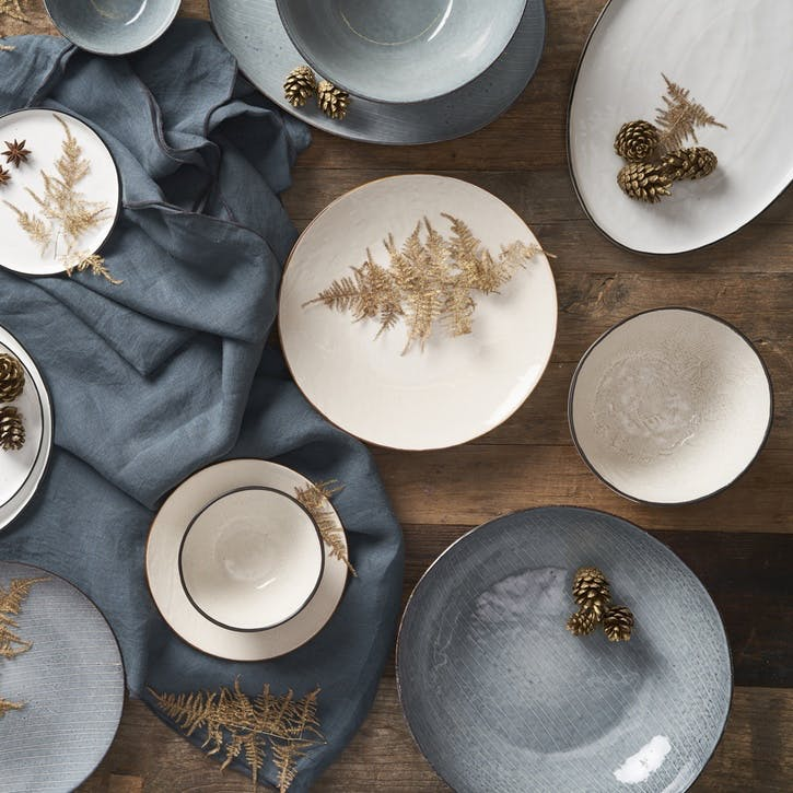 Jewel Stripe Oval Serving Platter