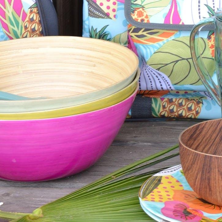 Summerhouse Ombre Rebu Salad Bowl, Pink