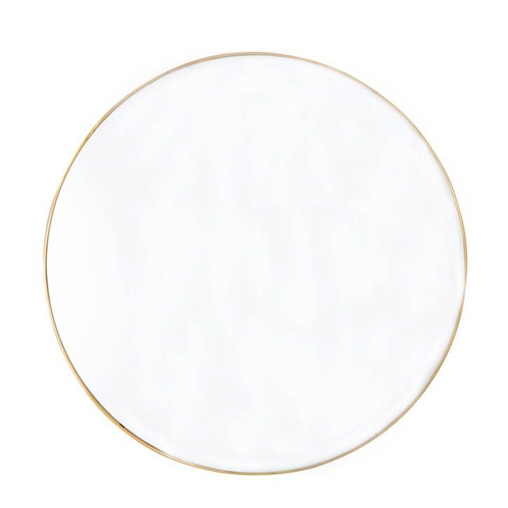 Moss Round Mirror, Gold