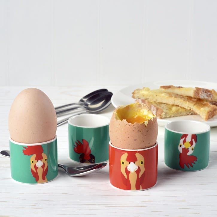 Creatureware Chicken Egg Cup, Set of 4