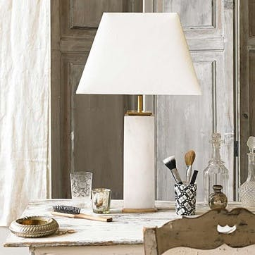 Samson White Marble Table Lamp