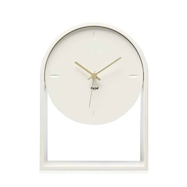 Air Du Temps, Mantel Clock, White