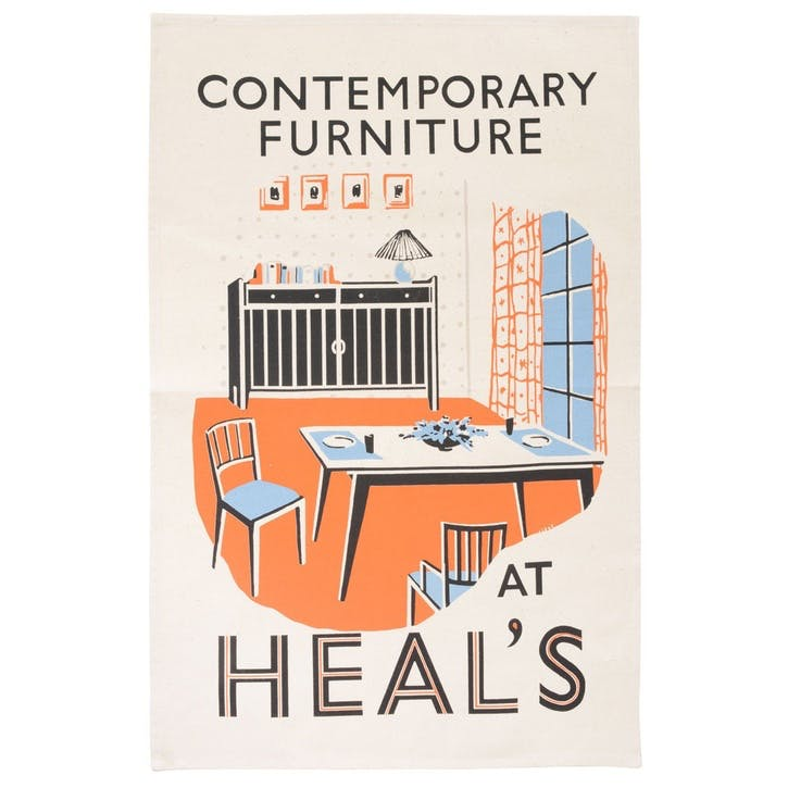 Poster Contemporary Furniture Tea Towel