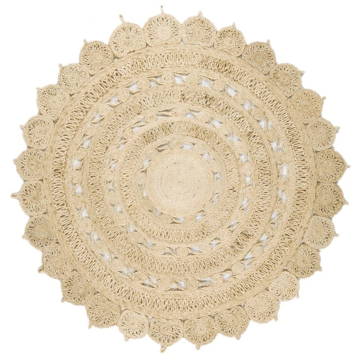 Zara Circular Rug - 1.5 x 1.5m; Light Natural