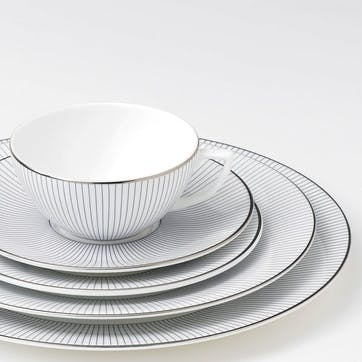 Pin Stripe Salad Plate