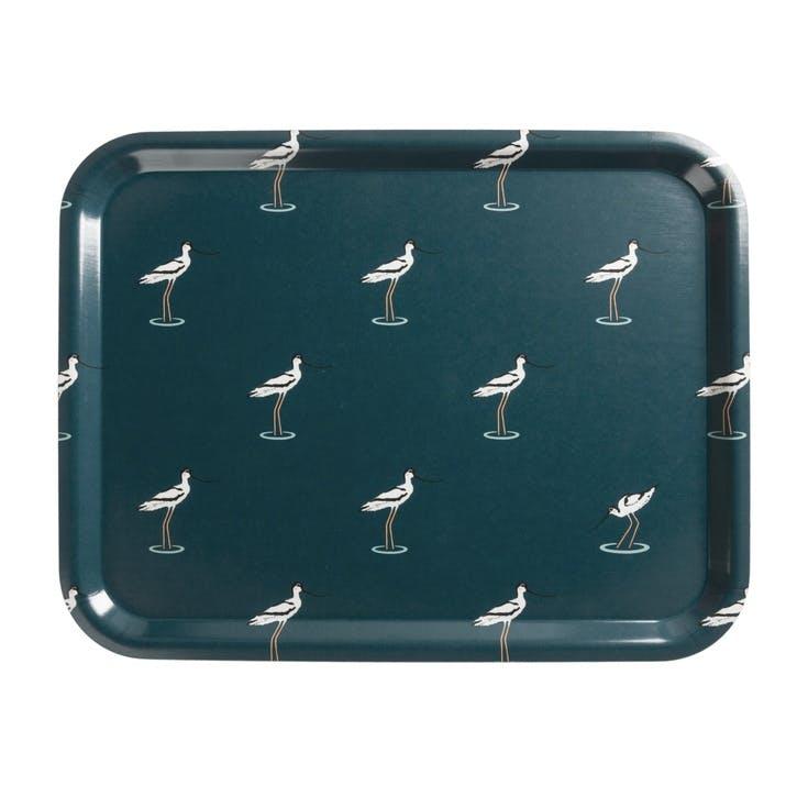 'Coastal Birds' Printed Tray, Large