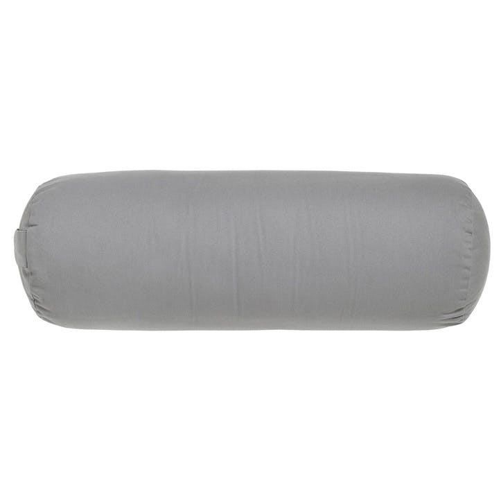 Yoga Bolster Cushion, Cool Grey