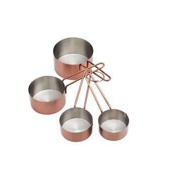 Copper Finish Measuring Cup Set