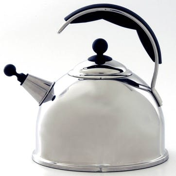 Stainless Steel Whistling Kettle, Polished Steel
