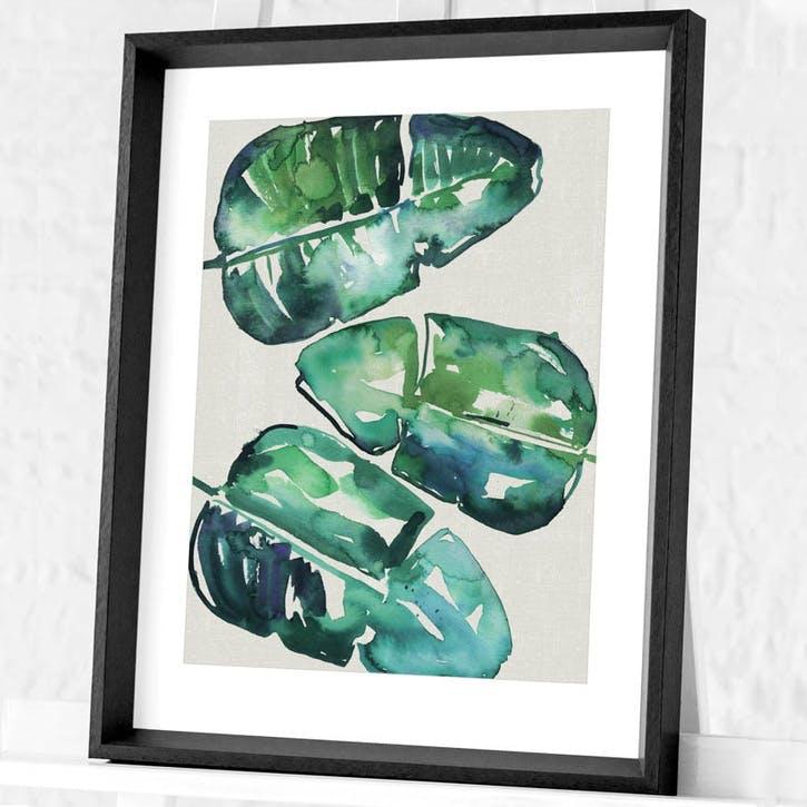 Summer Thornton Banana Leaves Framed Print, 55 x 45cm