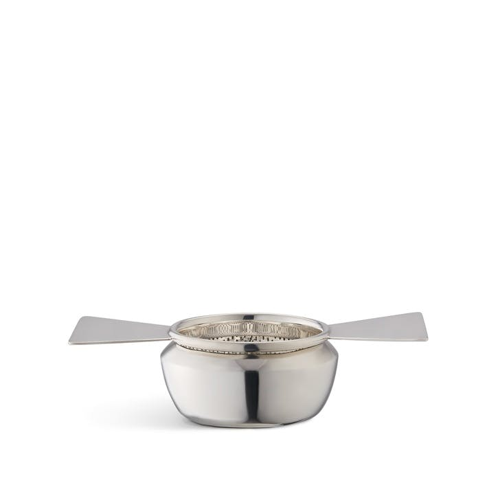 Audley Silver Butterfly Tea Strainer & Drip Cup Set