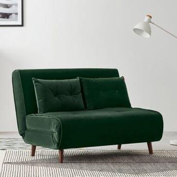 Haru Sofa Bed - Double; Pine Green Velvet