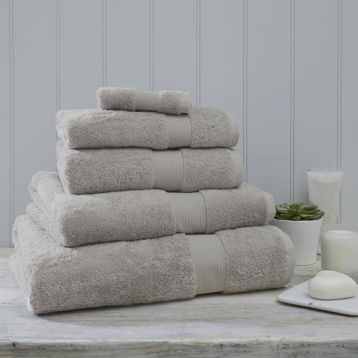 Egyptian Cotton Towel, Super Jumbo, Pearl Grey