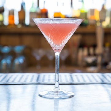 Barwell Cut Crystal, Martini Glass, Clear