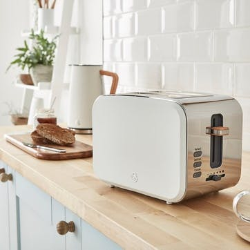 Nordic 2-Slice Toaster, Cotton White