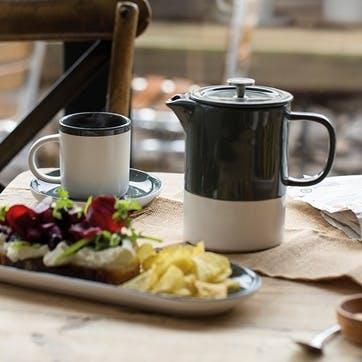 Barcelona Cafetiere, 6 Cup, Grey