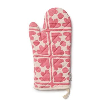 Bloom Oven Glove; Radish and Cream