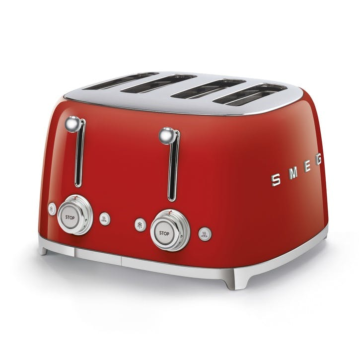 4 By 4 Toaster, Red