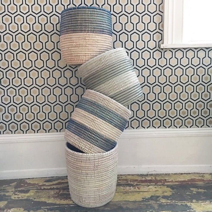 Handwoven Wastepaper Basket, Natural