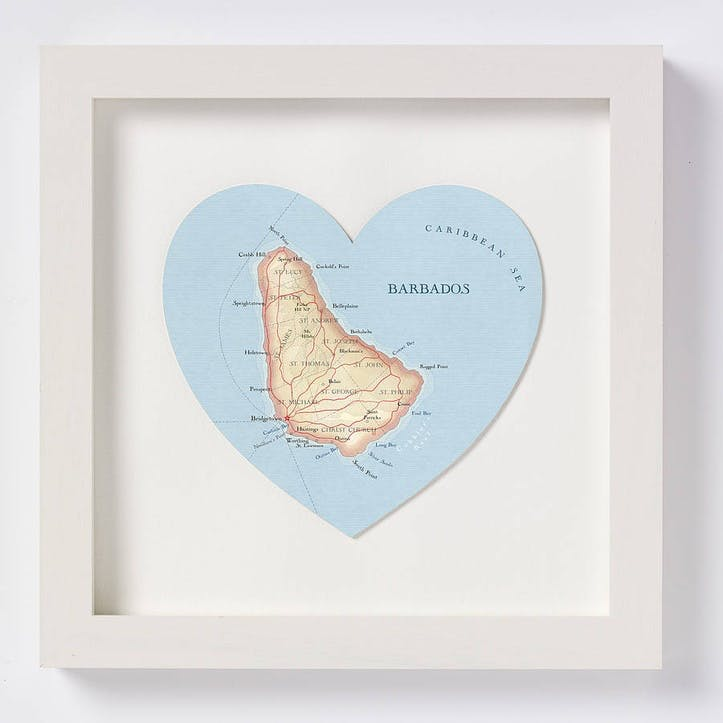 Barbados Map Print, 28cm