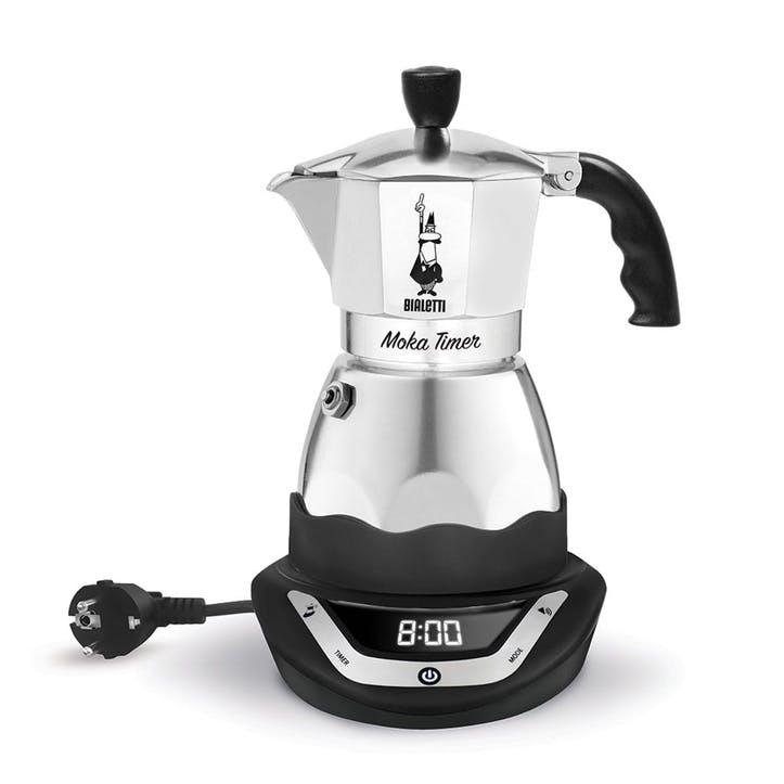 Moka Timer, Coffe Maker, 6 Cup, Silver