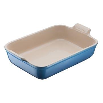 Stoneware Rectangular Dish - 19cm; Marseille Blue