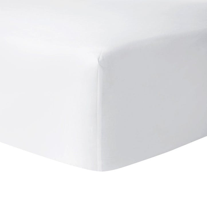 Roma Blanc Fitted Sheet, King