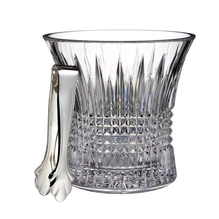 Lismore Diamond Ice Bucket and Tongs