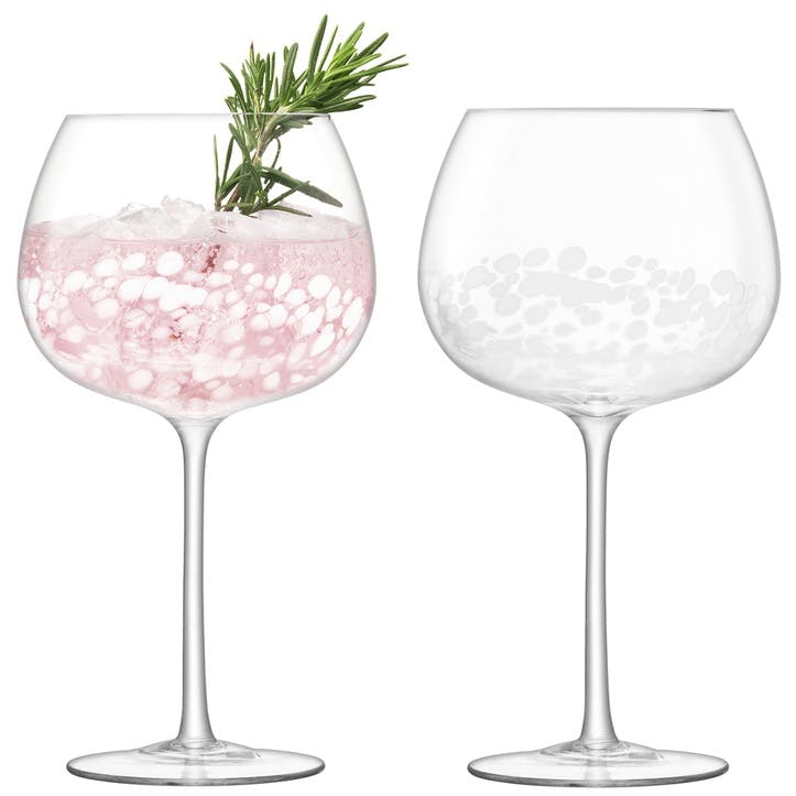 Stipple Balloon Goblet, Set of 2