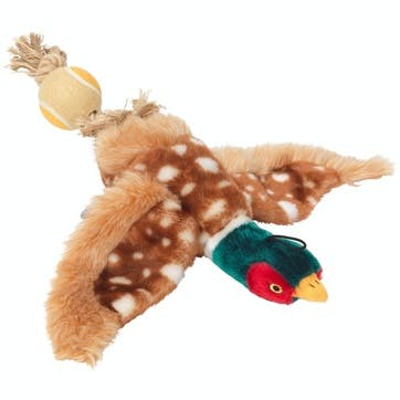 Plush Pheasant Tennis Ball Dog Toy