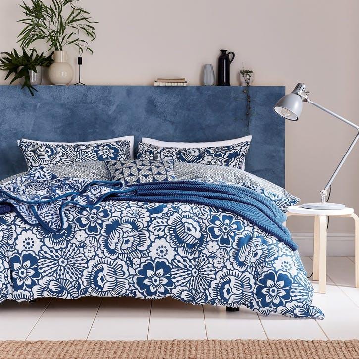 Tilde Double Bedding Set, Blue