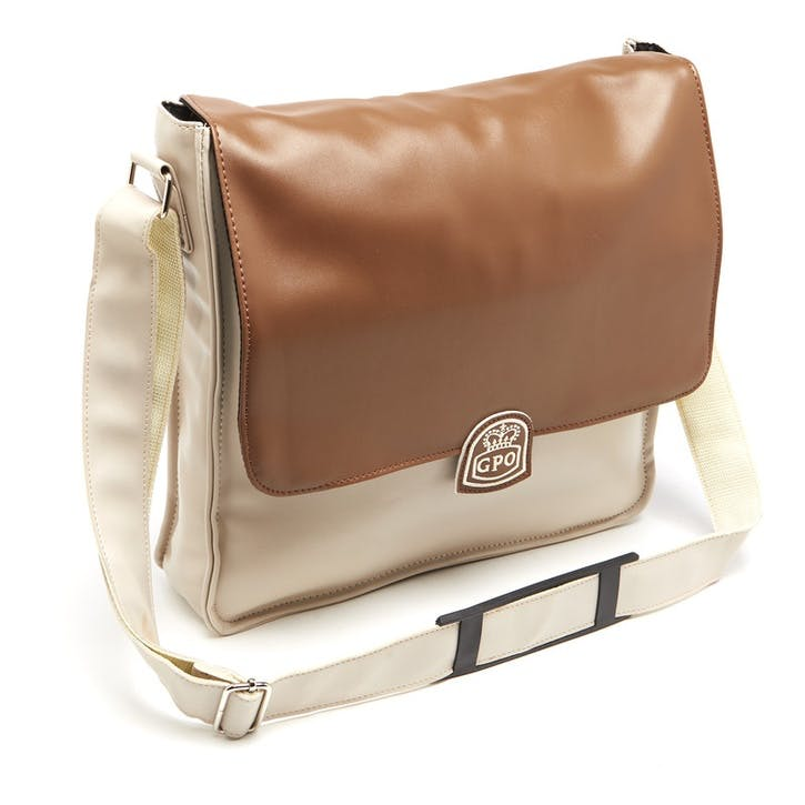 Record Bag; Cream/Tan